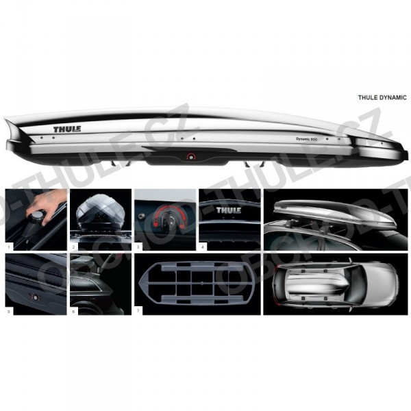 Autobox Thule Dynamic L (900) chrom