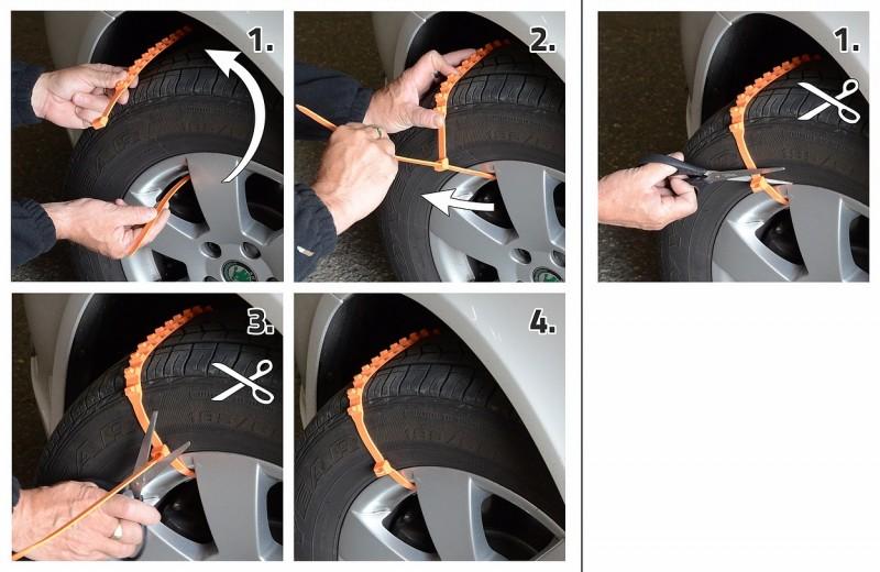 Vyprošťovací pásy jednorázové 4ks