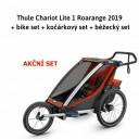 Thule Chariot Cross 1 Roarange 2019 + bike set + kočárkový set + běžecký set